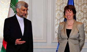 Saeed Jalili and Catherine Ashton