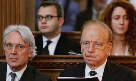 Rupert Murdoch in church