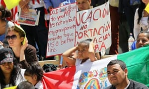 Activists in Arizona protesting against immigration law