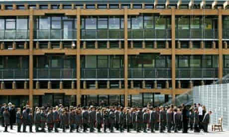 Pupils at Mossbourne academy