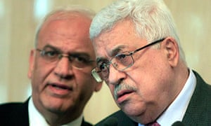 Saeb Erekat and Mahmoud Abbas