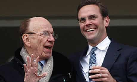 Rupert Murdoch with his son James
