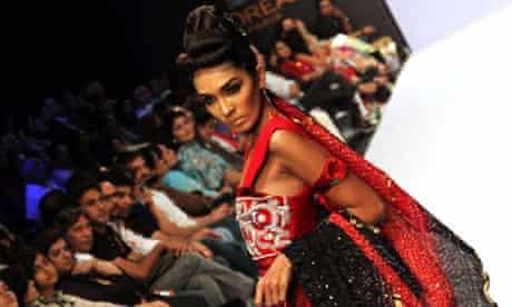 A model at a fashion show in Karachi in 2010.