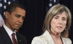 Carol Browner and Barack Obama