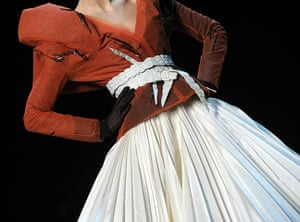 Paris Fashion Week: Detail of a model's outfit