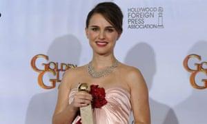 Natalie Portman at the Golden Globe awards
