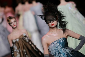 Paris Fashion Week: A model walks the runway during the Christian Dior show