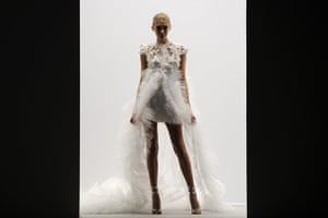 Paris Fashion Week: A model presents a creation by French designer Christophe Josse