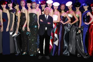 Paris Fashion Week: Giorgio Armani walks the runway