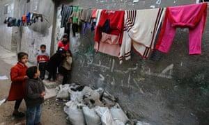 Refugee camp in Gaza