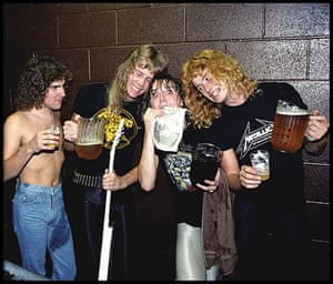 Metallica: Metallica backstage at the Old Waldorf in San Francisco, 1982