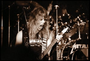 Metallica: Metallica's James Hetfield on stage at The Stone in San Francisco, 1983