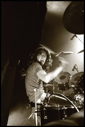 Metallica: Lars Ulrichon stage at The Stone in San Francisco, 1983