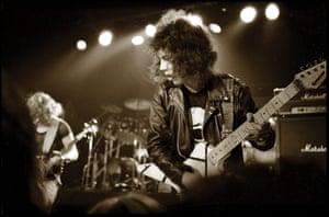 Metallica: Kirk Hammett of Exodus supporting Metallica in San Francisco, 1983