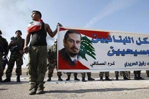 Lebanon Protests: Lebanese Sunni Muslim supporter in Sidon