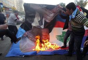 Lebanon Protests: Lebanese Sunni Muslim supporters in Tripoli