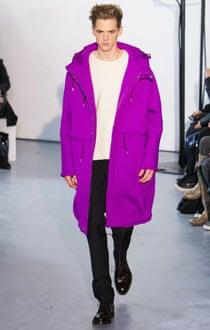 Raf Simons at Paris men's fashion week.
