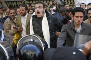 egpyt protests: Protesters in Cairo