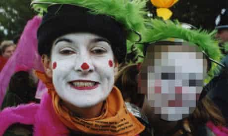 Lynn Watson in clown costume