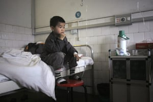2010 Environment in China: A child who  with having excessive lead in his blood in Chenzhou