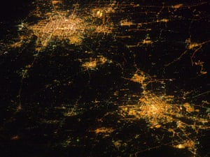 2010 Environment in China: Nightime Satellite view of Beijing and Tianjin