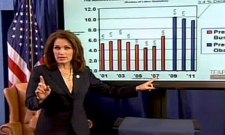 Michele Bachmann delivers her response to Barack Obama's second state of the union address