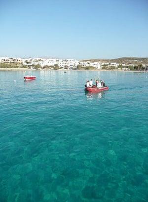 Swimming, Greek islands: Greek island dinghy