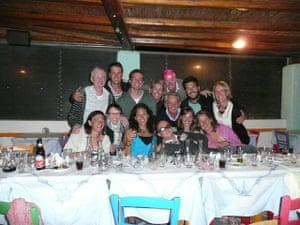Swimming, Greek islands: Greek island party