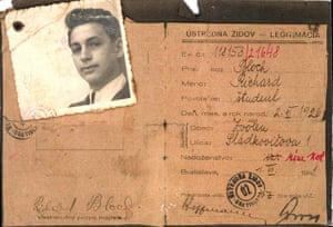 Yad Vashem: An identity card of Richard Bloch, the submitter's uncle