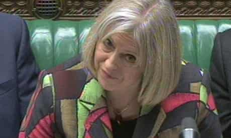 Home secretary Theresa May after announcing the government's counter-terrorism review