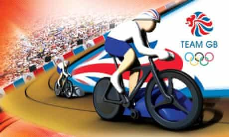 Micro Scalextric Team GB track cycling set