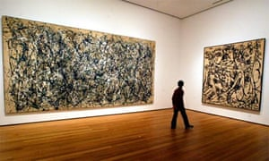 Jackson Pollock painting at the Museum of Modern Art, New York