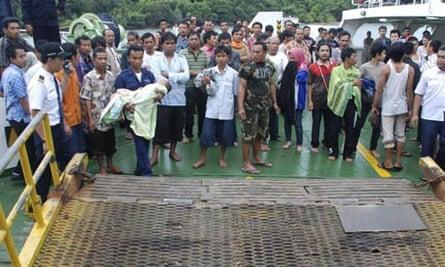 Indonesian ferry survivors