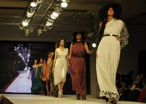Islamabad Fashion Week: Models present creations by Deeba and Zoa