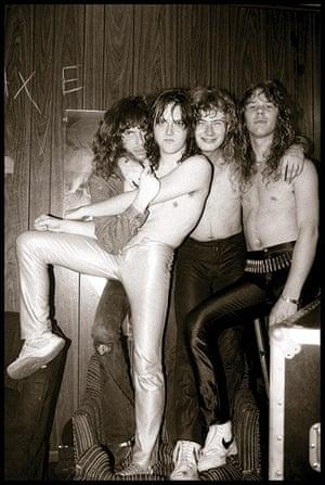 metallicagallery: Cliff Burton, Lars Ulrich, Dave Mustaine & James Hetfield