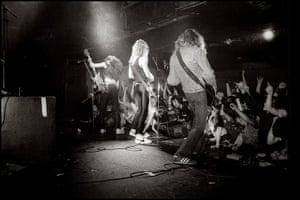 metallicagallery: Dave Mustaine, James Hetfield & Cliff Burton on stage