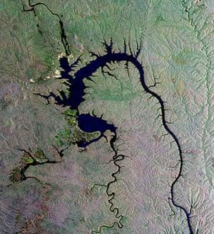 Satellite Eye on Earth: the Bratsk Reservoir in southeastern Siberia, Russia