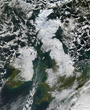Satellite Eye on Earth: Snow lingered in Great Britain and Ireland