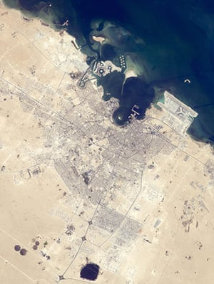 Satellite Eye on Earth: The old and new zones of Doha, the capital city of Qatar