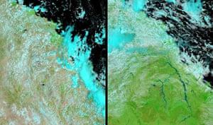 Satellite Eye on Earth: Queensland floods