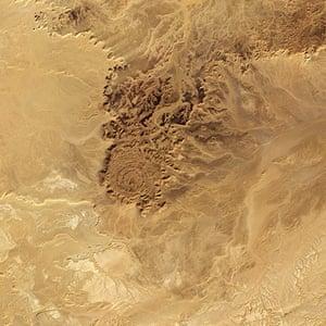 Satellite Eye on Earth: Algeria Tin Bider crater