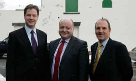 Nick Clegg, Elwyn Watkins and Simon Hughes