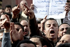 egypt protests continue: protesters in the streets of cairo