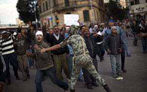 Egypt protests: anti-government protesters in cairo