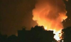 Explosion at Maracay