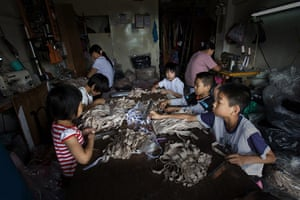 Industrial pollution: Fabric Workshop in Gurao, Shantou, Guangdong, China