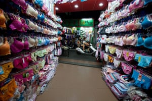 Industrial pollution: Lingerie Shop in Gurao, Shantou, Guangdong, China