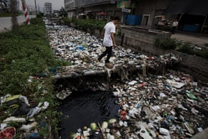 Industrial pollution: Wastewater in Gurao, Shantou, Guangdong, China