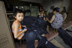 Industrial pollution: Jeans Workshop in Xintang, Zengcheng, Guangdong, China