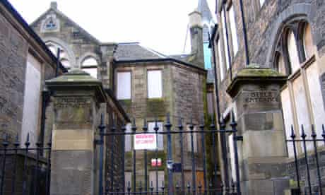 The former Bonnington school currently lies empty, but could become a dedicated Gaelic school | pic: Michael MacLeod